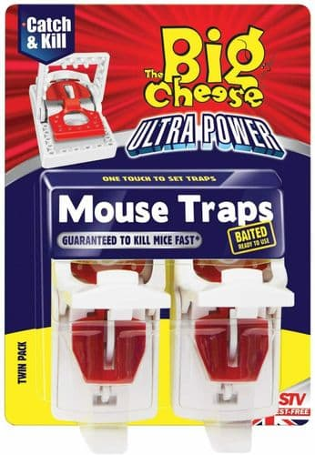 Mousetrap Humane Mouse Trap Quick Set Ultra Power Best Baited Twin Pack Traps